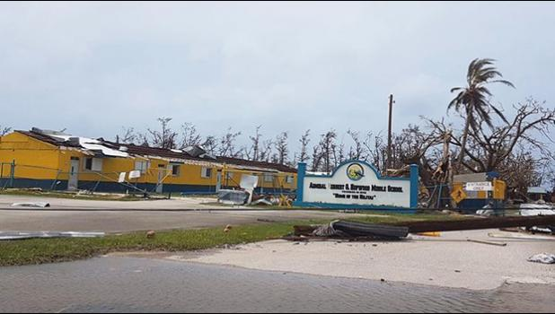 Damage at  Hopwood Middle School