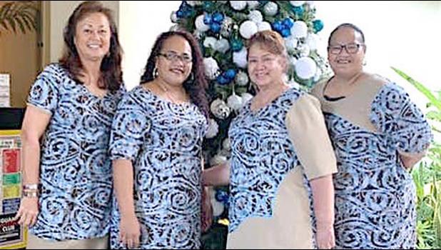 (l-r) Lydia Faleafine Nomura, Flo Aetonu, Minnie Tuia, and Letitia Peau