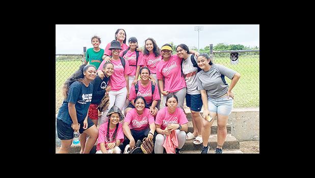 Some of the Diamond Teen Girls Softball participants