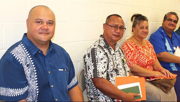 Health Department senior officials [l-r] Dr. Aifili John Tufa, Papali'i Marion Fitisemanu, Farah Utu, and Dr. Saipale Fuimaono