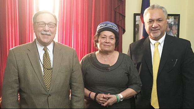 Congresswoman Amata with Assistant Secretary Domenech and Director Pula.