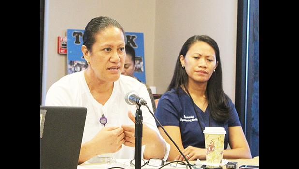 Dr. Peka Lauvao (left) and Dr. Francine Amoa (right)