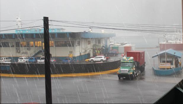 Rain at Port of Pago Pago