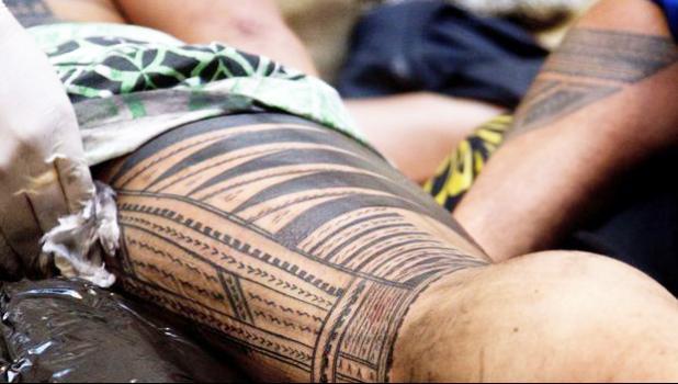 Example of a traditional Samoan tatau.