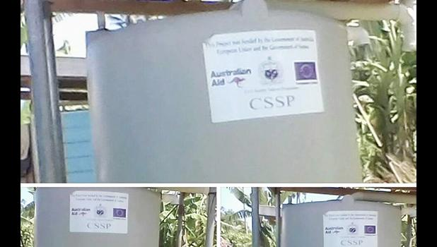 The water tanks that were for sale [Photo: Facebook]