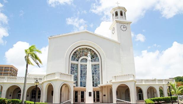 Dulce Nombre de Maria Cathedral Basilica in Guam [Photo: Copyright: ziggymars / 123RF Stock Photo via RNZI]