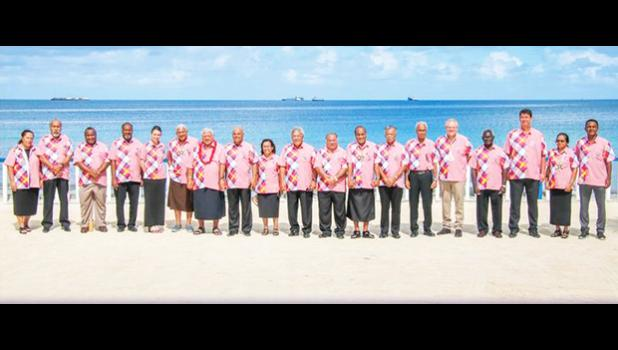 Pacific region's 18 presidents, prime ministers and premiers attending the Pacific Forum.