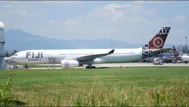Fiji Airways plane at Nadi International Airport [Photo: Alex Perrottet/RNZ]