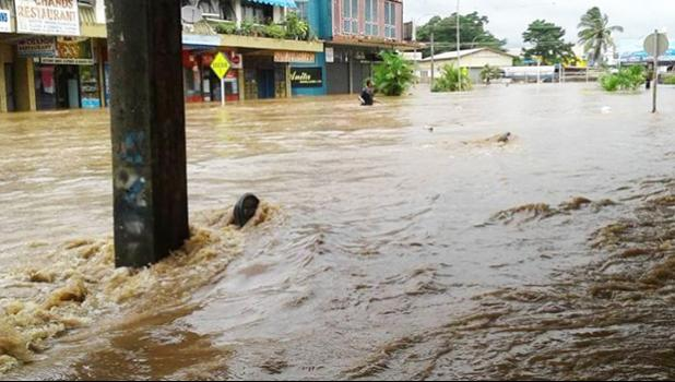 Tropical Cyclone Josie causes major flooding in Fiji's Ba [Photo: Fiji Village via RNZI]