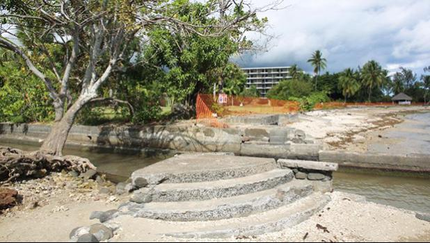 "The planned construction site of a tourism complex named ""Mahana Beach"",15 km south of Papeete, in French Polynesia, on July 19, 2014. [Photo: AFP via RNZI]"