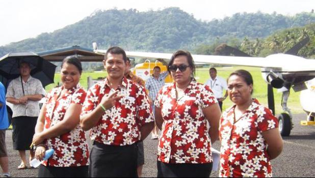 Talofa Airways staff at the launch of the airline [Photo: RNZI/Autagavaia Tipi Autagavaia]