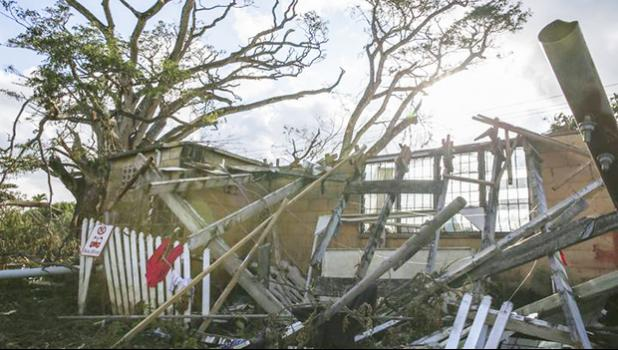 Cyclone Gita caused widespread damage in Tonga. [Photo: RNZ / Richard Tindiller]
