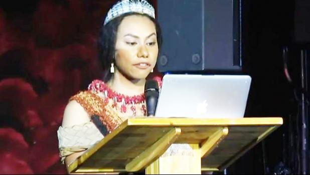 Kalo Funganitao during her speech