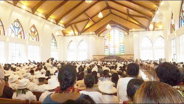 Malua Jubilee church temple dedication.