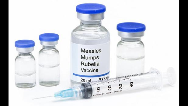 Photo of MMR vaccine and needle