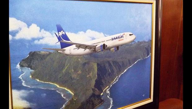 An artist impression of the Samoa Airways Boeing 737 Max 9