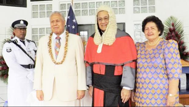 Chief Justice Satiu Simativa Perese,Head of State, CJ's wife