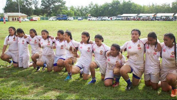 Tonga girls play rugby [Photo: Supplied Talitha Project]