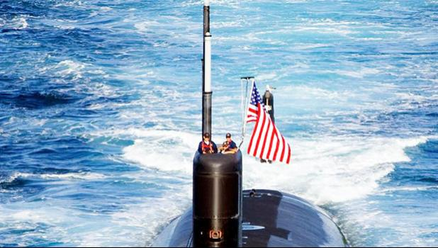 The Los Angeles-class attack submarine USS Tuscon