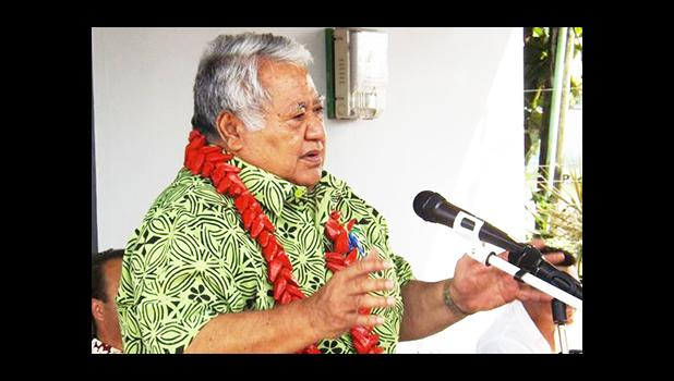 In this RNZI file photo, Samoan Prime Minister Tuila'epa Sa'ilele Malielegaoi speaks at the launching of the new Talofa Airways at Fagalii airport on August 22 2016 [Photo: RNZI/Autagavaia Tipi Autagavaia]