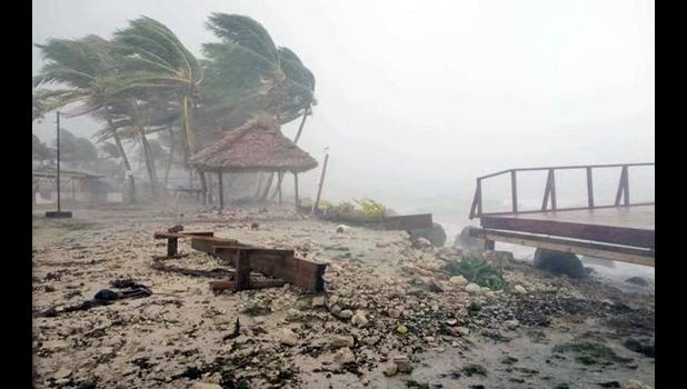 Pictured, debris swept in by the lagoon on Tuvalu's main island, Funafuti.