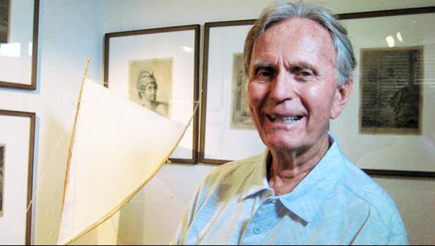 A co-founder of the Polynesian Voyaging Society, Ben Finney. January 2012. [Photo: Star Advertiser/ Gary Kubota via RNZI]