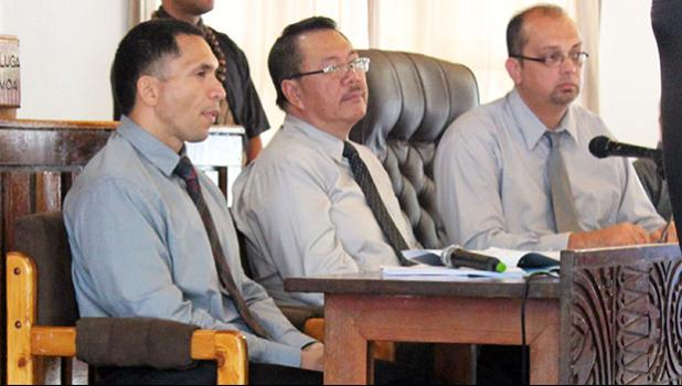American Samoa Power Authority officials William Spitzenberg, Wallen Young and Ryan Tuao'o
