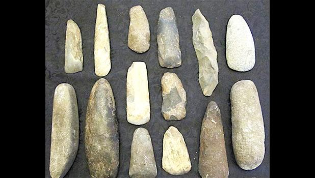 A collection of stone tools