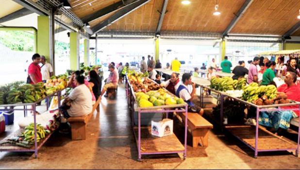 Vendors at the Fagatogo Market Place