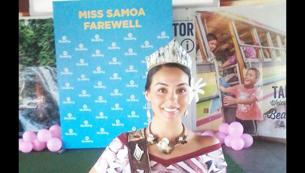 Reigning Miss Samoa beauty queen Sonia Piva
