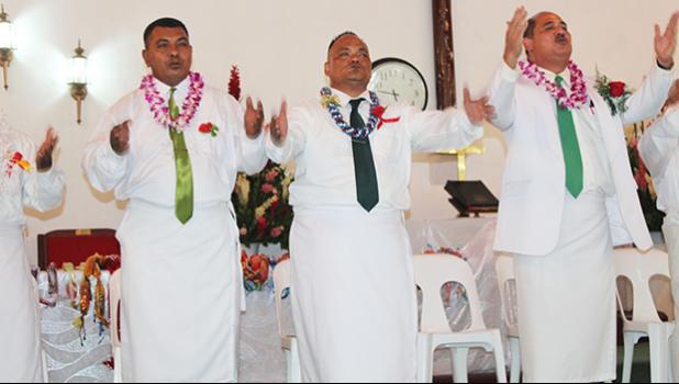 Fathers at Ave o le Fetu Ao Methodist Church