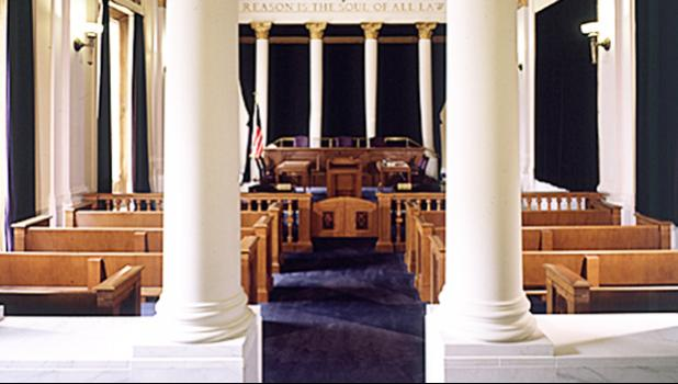 Courtroom, 10th Circuit Court of Appeals in Denver, Colorado