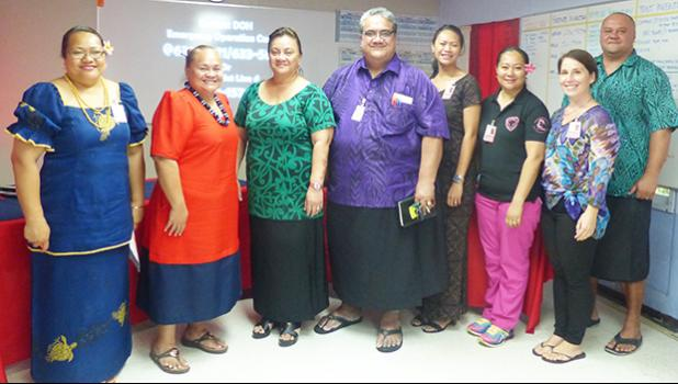 Department of Health officials, along with Dr. Tamara Buhagair (second from right) of the Centers for Disease Control and Prevention (CDC)