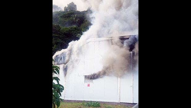 Fire at new micro grid power plant in Ofu, Manu'a