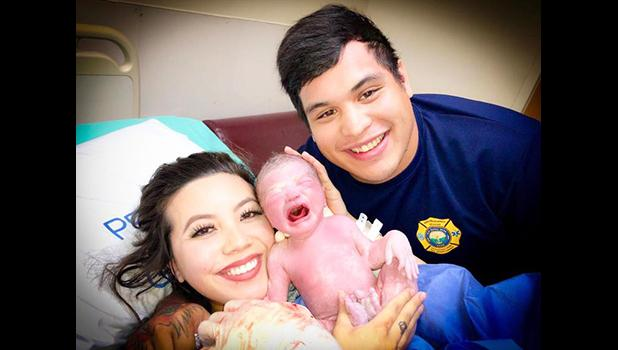 Desirae and Kyle Mafnas with baby Malakai
