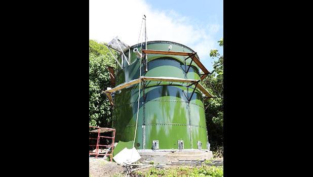 Fitiuta water tank