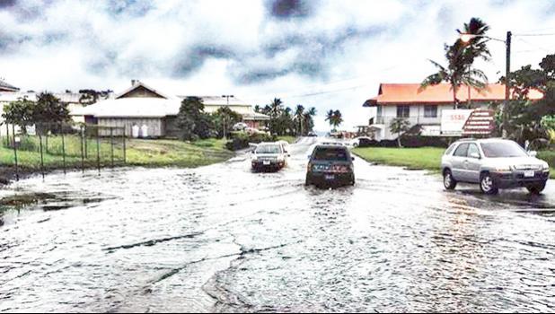 Flooding near Cost U Less