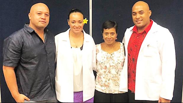 Florence Wasko and Aysha Ioane with family members