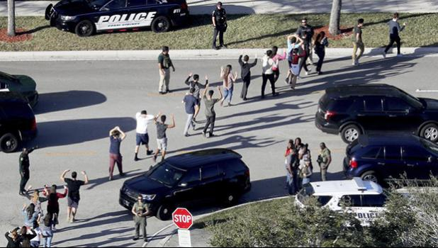 students from Marjory Stoneman Douglas High School in Parkland, Fla
