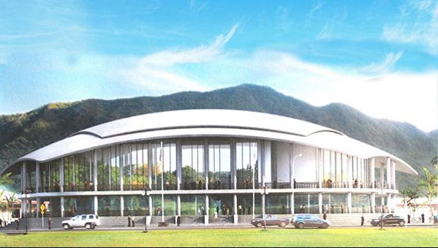 Artist's rendition of the proposed new Fono building, which according to the Interior should be a raised building, which will provide parking underneath the structure and mitigate flood hazards.  [SN file photo]