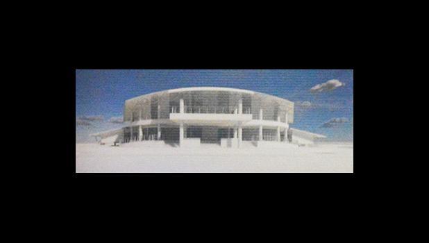Rendering of Fono building under construction