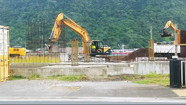 Building site for the new fono building.