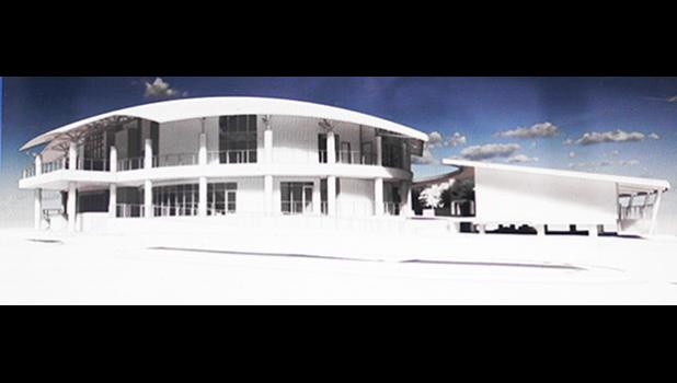 Rendering of new Fono building and proposed offices