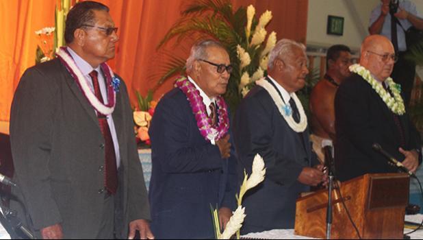 [l-r] Senate President Gaoteote Tofau Palaie, Gov. Lolo Matalasi Moliga, House Speaker Savali Talavou Ale, and Chief Justice Michael Kruse