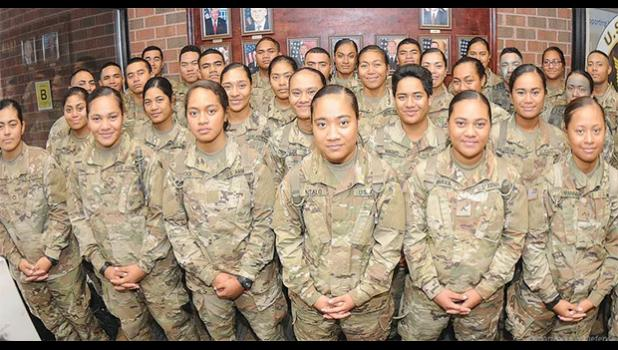 Samoan soldiers at Fort Lee