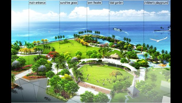 Aerial view of the Friendship Park concept plan [courtesy rendering]
