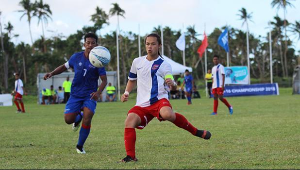 American Samoa's captain Gabriel Taumua