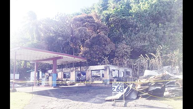 What's left of Utusi'a gas station