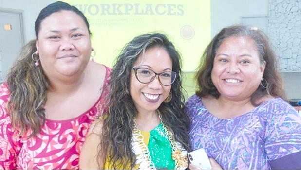 Glory Gervacio Saure, (middle) director of the Honolulu office of the U.S. Equal Employment Opportunity Commission