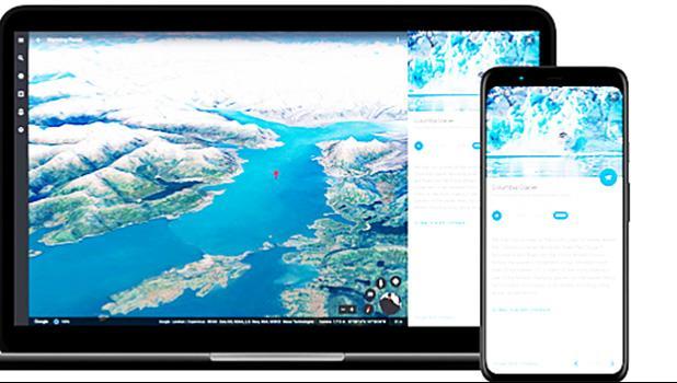 Screen shot of google app
